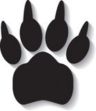 Paw print on white background Royalty Free Stock Image