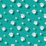 Paw Print Wildnature Seamless Pattern animal Imágenes de archivo libres de regalías