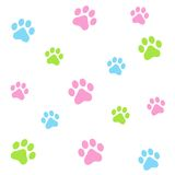 Paw prints vector illustration