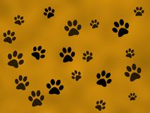 Paw prints. Background for design Royalty Free Stock Photo