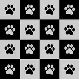 Paw prints background royalty free illustration