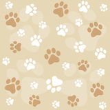 Paw prints background Royalty Free Stock Photography