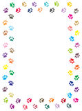 Paw prints border Royalty Free Stock Photos