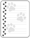 Paw prints border Stock Photos