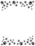 Paw prints border Royalty Free Stock Images