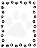 Paw prints border Royalty Free Stock Photography