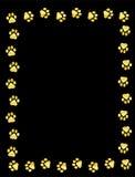 Paw prints border Royalty Free Stock Image