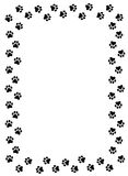 Paw prints border royalty free illustration