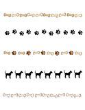 Paw prints border / divider royalty free illustration