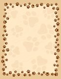 Paw prints border Stock Photo