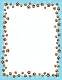 Paw prints border Stock Image