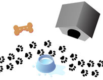Paw Prints Dog Treat Kennel Royalty Free Stock Photos