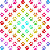 Paw prints in gradient colors in a diamond shape Stock Photography