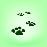 Paw prints  icon Stock Images