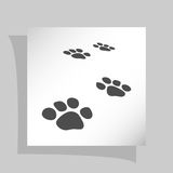 Paw prints  icon Royalty Free Stock Image