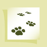 Paw prints  icon Royalty Free Stock Photos