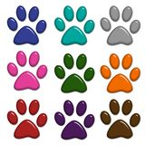 Paw Prints Isolated On White Royalty Free Stock Photography