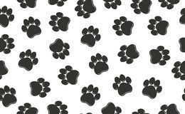 Paw prints pattern. Vector Stock Photography