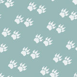 Paw prints. Seamless background Stock Photography