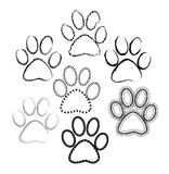 Paw prints sketch Stock Photo