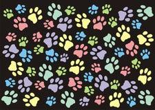 Paw Prints Wallpaper Background en colores pastel Imagen de archivo libre de regalías