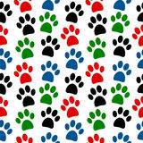 Paw seamless pattern Stock Photo