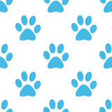 Paw seamless pattern Royalty Free Stock Photography