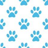 Paw seamless pattern Royalty Free Stock Photography