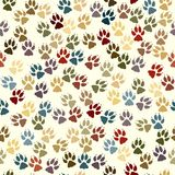 Paw seamless tile Stock Photo