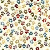 Paw seamless tile Stock Photo