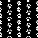 Paw symbol seamless pattern Stock Photo
