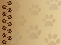 Paw track animal background Royalty Free Stock Photography