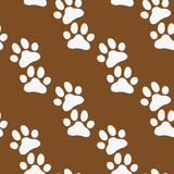 Paw zoo pattern. Brown vector for zoo design. Stock Photography