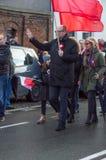 Pawel Adamowicz célébrant le Jour de la Déclaration d'Indépendance national à Danzig en Pologne Célèbre le quatre-vingt-dix-neuvi Images stock