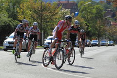 Pawel Bernas in Bohemia tour 2012 race Stock Images