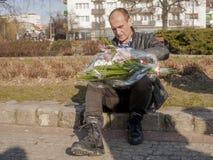 Pawel Kukiz,共和国的总统的独立候选人 库存照片
