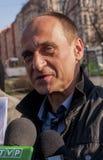 Pawel Kukiz,共和国的总统的独立候选人 免版税库存图片