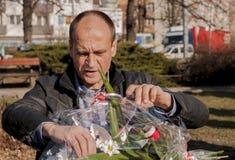 Pawel Kukiz,共和国的总统的独立候选人 库存图片