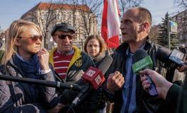 Pawel Kukiz, candidat indépendant pour le président de la République Photographie stock