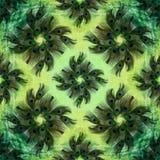 Pawi piórka na akwareli tle Bezszwowy tło Fotografia Royalty Free