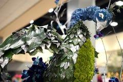 Pawi rzeźbiony centerpiece - szczegół Fotografia Royalty Free