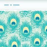 Pawich piórek horyzontalny drzejący ramowy bezszwowy Obrazy Stock