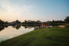 Pawilon jeziora strona Fotografia Stock