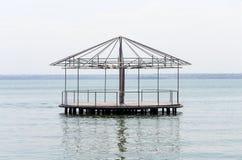 Pawilon po środku jeziora Obraz Royalty Free
