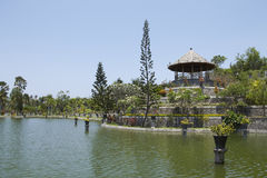Pawilon w Taman Soekasada Ujung wody pałac Fotografia Stock