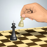Pawn attack Royalty Free Stock Photo