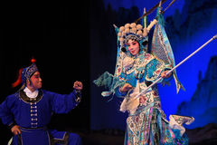 """Pawn- Beijing Opera"""" Women Generals of Yang Family"""". This opera tells a patriotic story how does an old woman of a hundred years old go out for a Royalty Free Stock Photos"""
