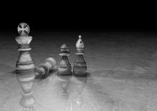 Pawn, Bishop and King in Chess Stock Images