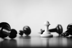 Pawn on a chess board Stock Photography