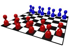 Pawn chess game Royalty Free Stock Photos